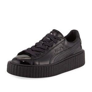 Puma Shoes - Puma Fenty Creeper Patent Black